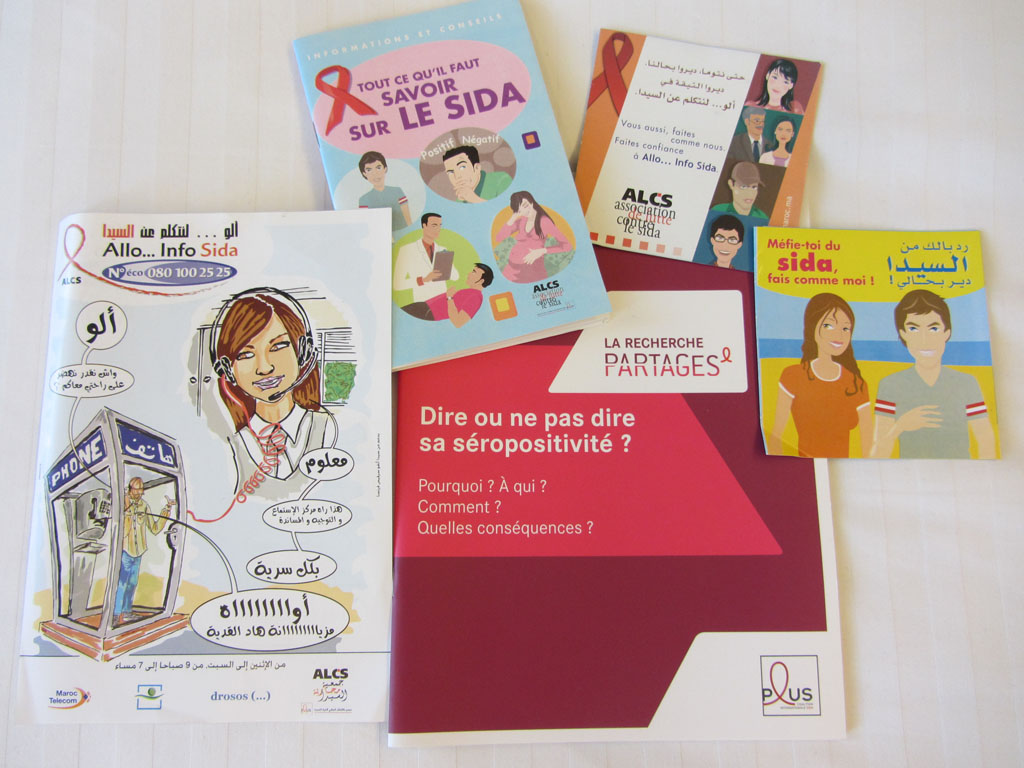 HIV education material