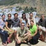 Chefchaouen - Duki, Cathy, Michael, Lauren, Sayoko; Gerry + Ana Paula in front