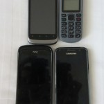 Cell phones of 4 generations