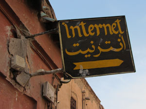 Internet café in Marrakesh
