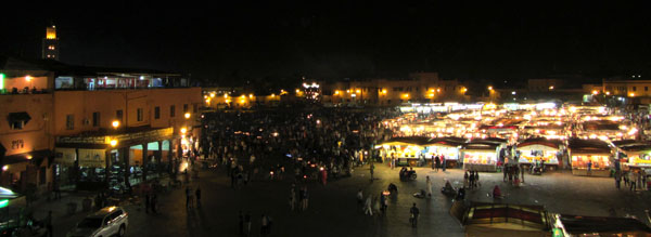 Jemaa el-Fnaa by night