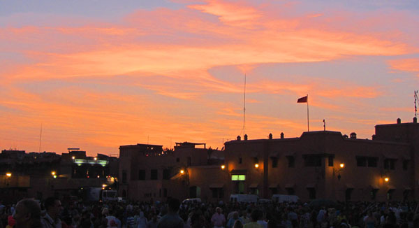 Sunset at Jemaa el-Fnaa